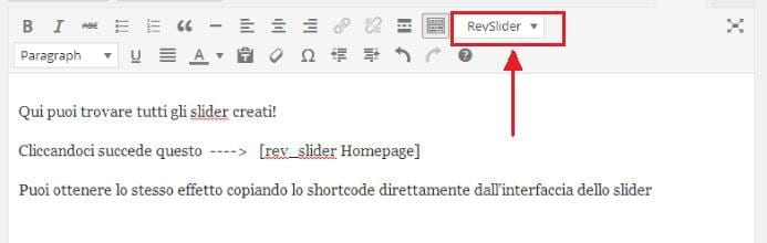 inserire il WordPress Slider