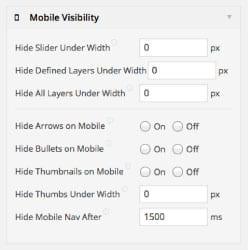revolution slider mobile visibility