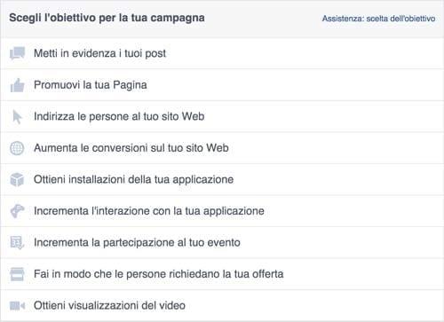 Pubblicità su Facebook - Facebook ads