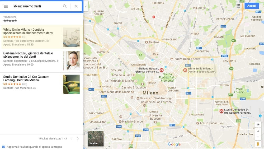 Creare sito e usare Google Maps - Esempio 1