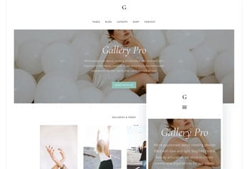 Fashion blog template - Gallery PRO