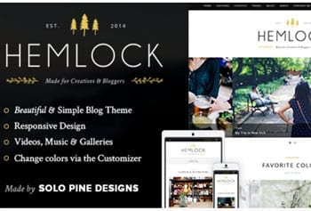 Fashion blog template - Hemlock