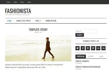 Fashion blogger template - Fashionista