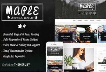Fashion blogger template - Maple