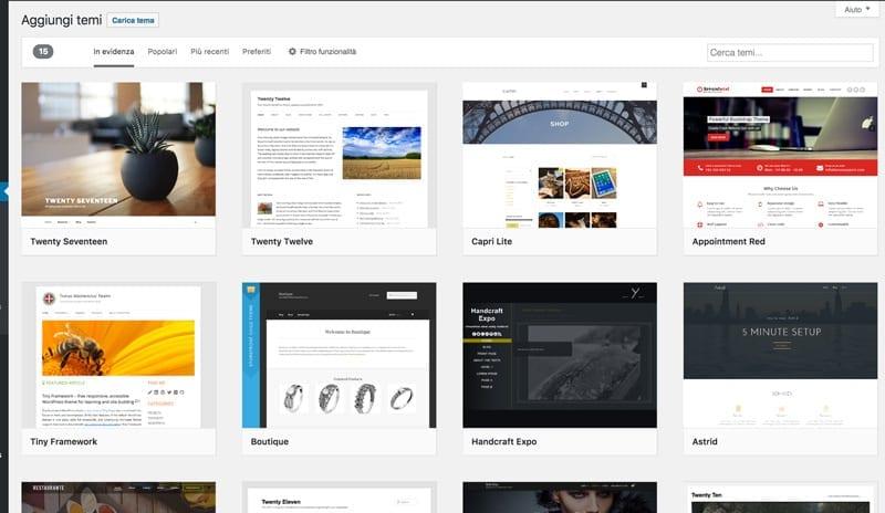 immagini temi WordPress gratuiti